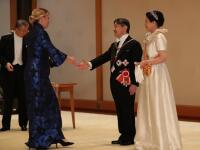 Konečne Čaputová v Tokiu ako hviezda: Pozrite si modrú RÓBU, ktorú predviedla pred cisárom