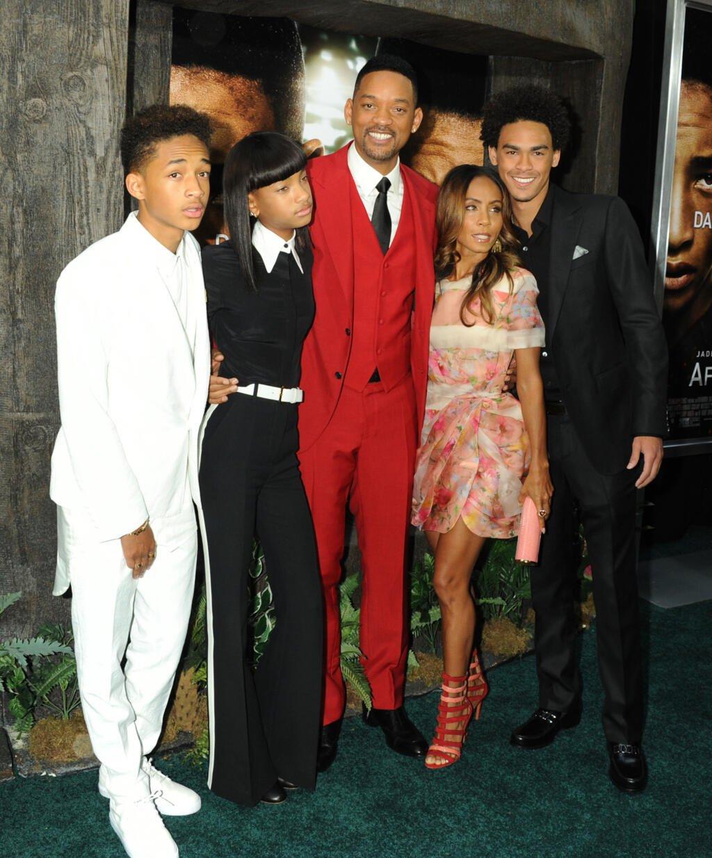 Will Smith s maželkou Jadou a deťmi.
