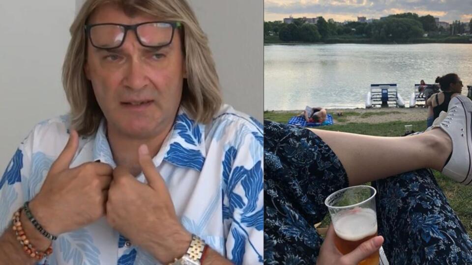Braňo Mojsej má jasný názor na pitie alkoholu pri vode.