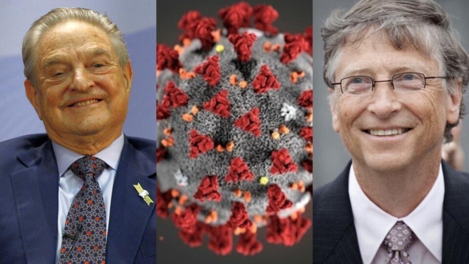 Niektoré ztýchto teórií tvrdia, že vlády vírus pustili dosveta, aby mohli kontrolovať obyvateľov. Iné vinia Billa Gatesa alebo Rockefellerovcov, že vírus vytvorili, aby neskôr mohli masovo očkovať ačipovať ľudí. Ďalšími sú antisemitské konšpiračné teórie, vktorých pozadí väčšinou dominuje židovský podnikateľ afilantrop George Soros. Objavili sa aj presvedčenia, že Soros spolu so Svetovou zdravotníckou organizáciou či sfarmaceutickými firmami rozpútali pandémiu, aby zarobili.