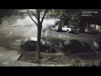 Zo šoférky sa stala kaskadérka: Pozrite sa, ako na BMW M4 preletela krížom cez kruháč