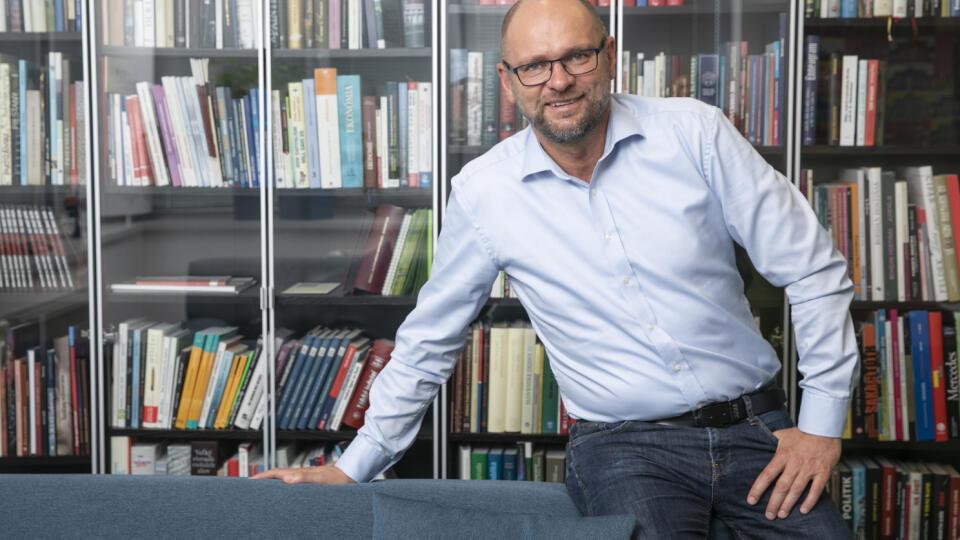Richard Sulík počas exkluzívneho rozhovoru pre Plus JEDEN DEŇ.