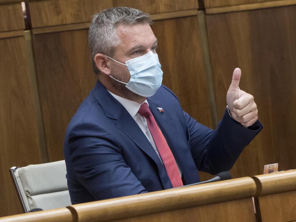 Na snímke podpredseda parlamentu SR Peter Pellegrini (nezaradený) počas 11. schôdze parlamentu SR 2. septembra 2020 v Bratislave. FOTO TASR - Martin Baumann