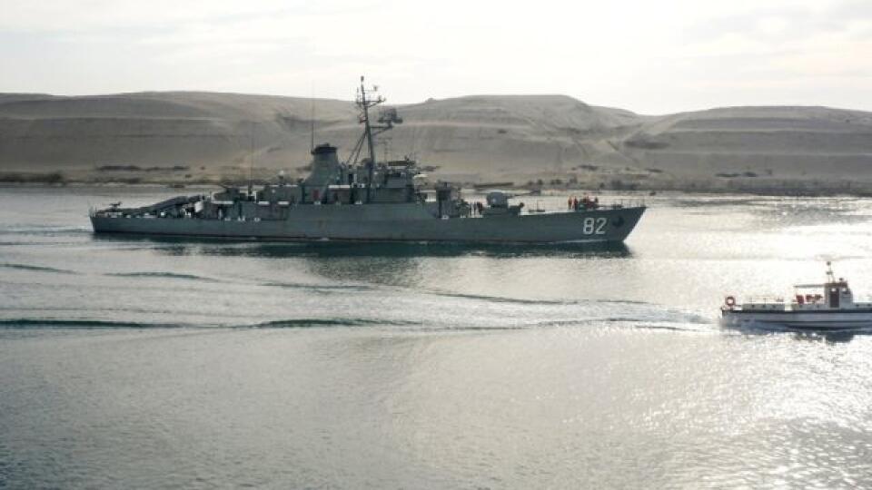 Ilustračná foto : Iránska vojenská loď