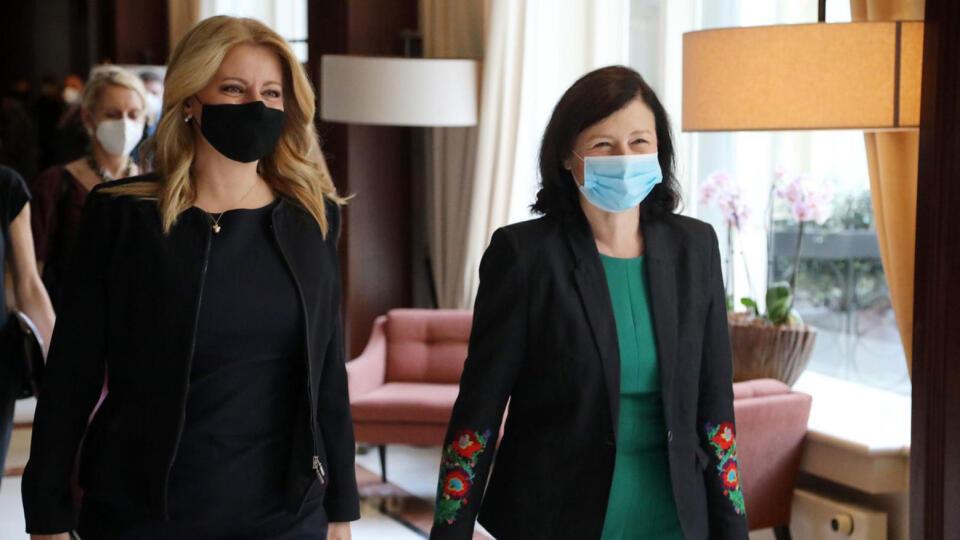 Z. Čaputová sa pred samitom NATO stretla s eurokomisárkou V. Jourovou