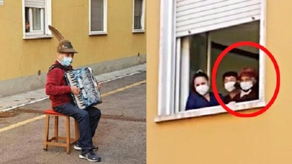 Muž hral serenády pre svoju manželku, kotrá bola v nemocnici