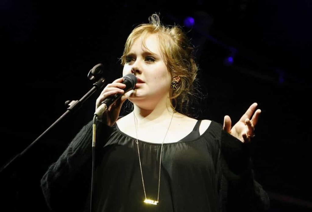 Adele na začiatku svojej kariéry.