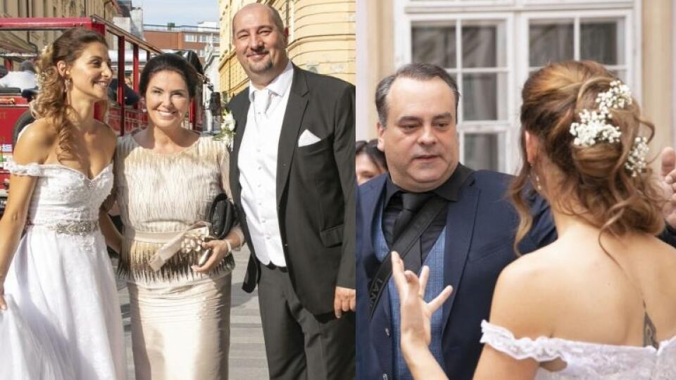 Pyšní rodičia čerstvo vydatej dcéry Kristíny. Medzi gratulantmi nechýbal ani nevestin ujo - herec Sväťo Malachovský.