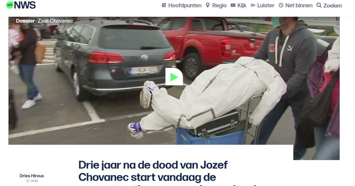 Začala sa rekonštrukcia smrti Jozefa Chovanca v Belgicku