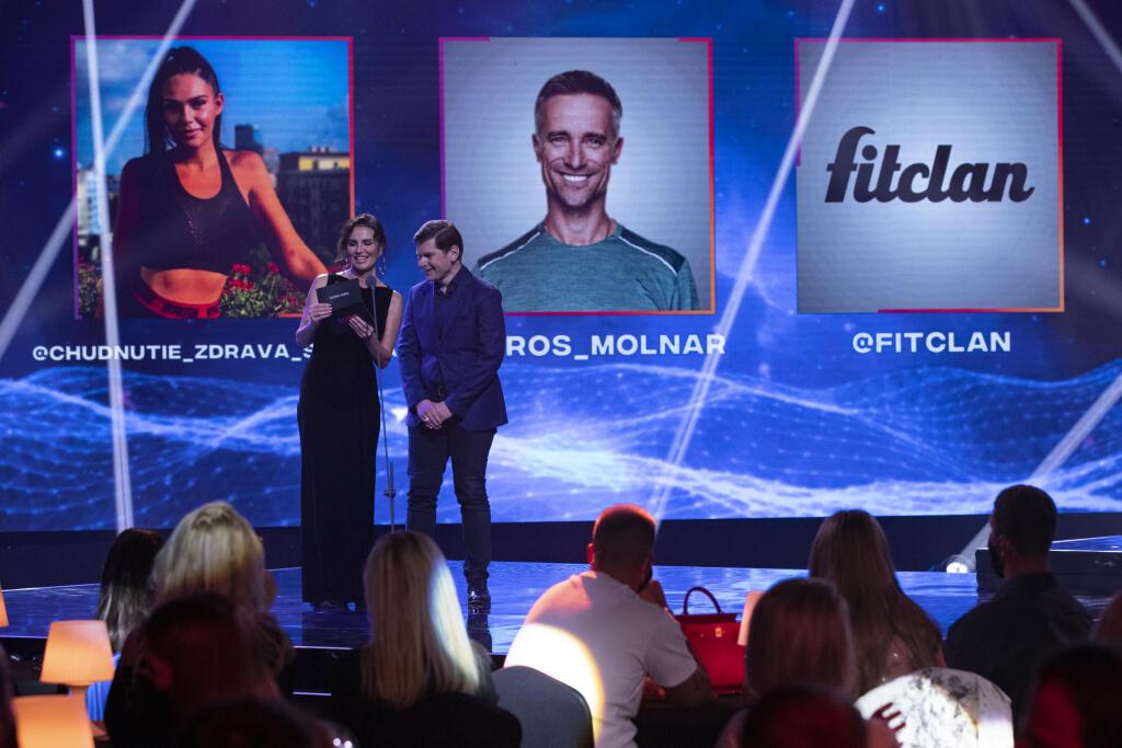 Druhý ročník odovzdávania ocenení Social Media Awards pre najúspešnejších influencerov na Slovensku. Na snímke je Silvia Lakatošová.