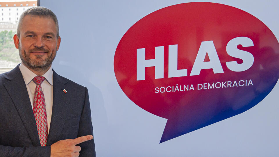 Peter Pellegrini predstavuje názov novej politickej strany počas tlačovej konferencie v Bratislave v pondelok 29. júna 2020. Bude sa volať Hlas - Sociálna demokracia. FOTO TASR - Michal Svítok