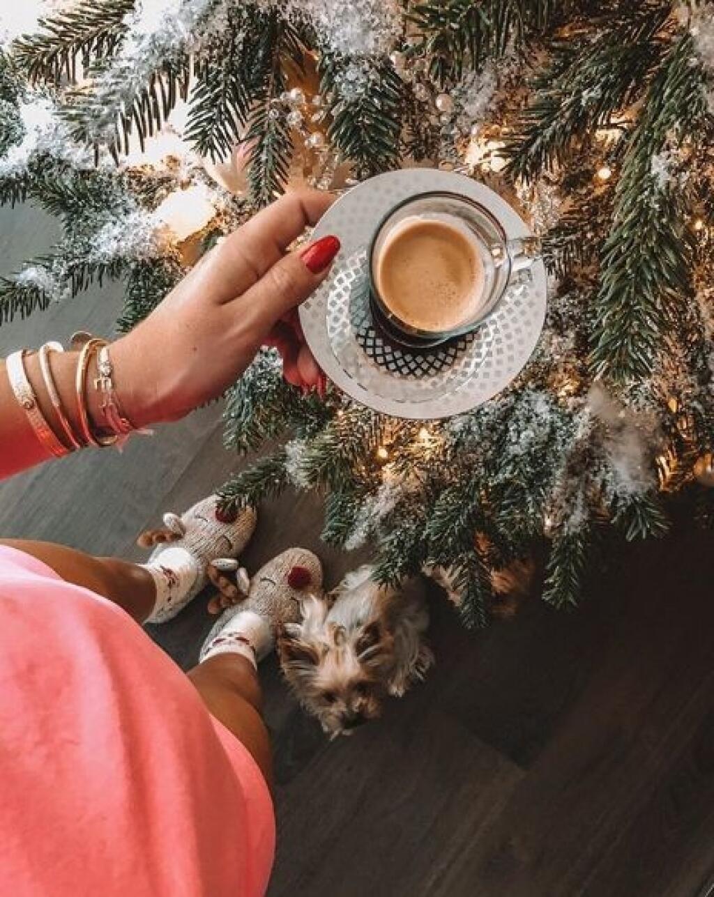 Dominika Cibulková nezabudla ani na vianočné, sobíkové papuče.
