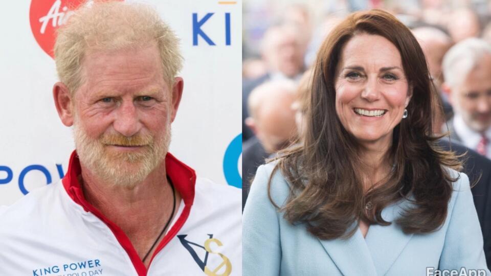 Kate Middleton a princ Harry.