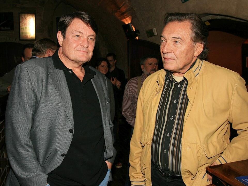 Ladislav Štaidl a Karel Gott spolu na archívnej snímke z roku 2007.