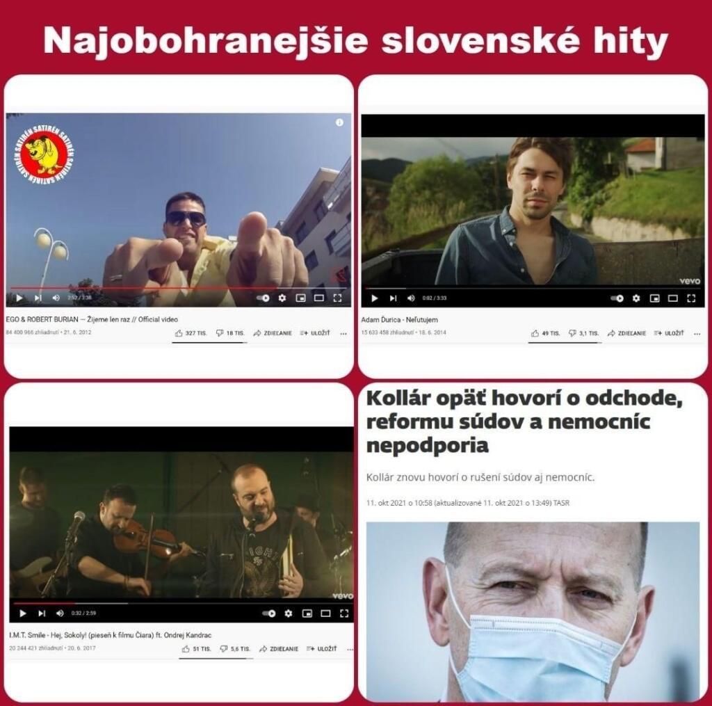 Najobohranejšie slovenské hity